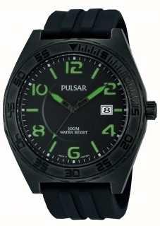 Pulsar Caballeros reloj análogo de cuarzo negro PS9317X1