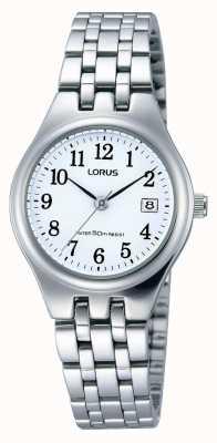Lorus reloj de la fecha de acero inoxidable de las señoras RH791AX9