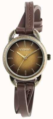Kahuna Señoras cruce de cuero marrón KLS-0294L