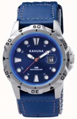 Kahuna azul de la correa del dial y caja de metal pulido K5V-0001G