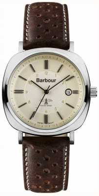 Mens Barbour coche faro reloj marrón BB018SLBR