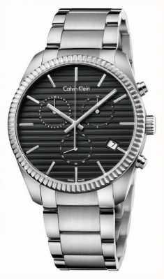Calvin Klein Para hombre del cronógrafo alianza plata K5R37141
