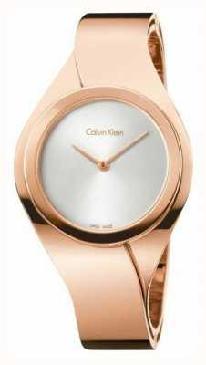 Calvin Klein Para mujer del reloj de oro rosa K5N2S626