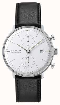 Junghans Cronoscopio Max Bill | automático | correa de cuero negro 027/4600.04