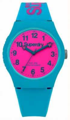 Superdry Cerceta Urbano reloj correa de silicona SYG164AUP