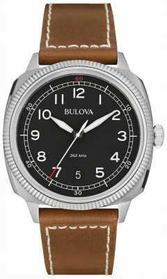 Bulova Mens uhf militar reloj marrón negro 96B230