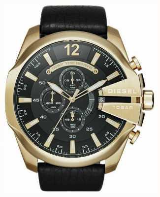 Diesel reloj cronógrafo jefe de oro tono Mega Hombres DZ4344