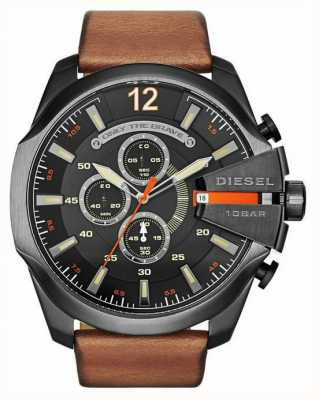 Diesel Jefe de reloj cronógrafo para hombre moreno de mega negro DZ4343
