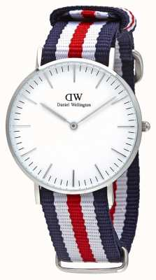Daniel Wellington Señoras lona azul reloj análogo de cuarzo DW00100051