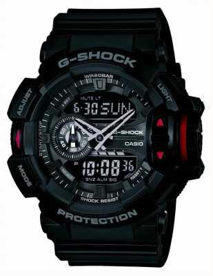 Casio Hombres G-SHOCK reloj cronógrafo negro GA-400-1BER