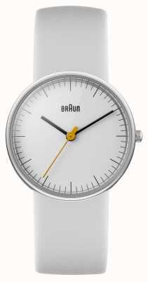 Braun Señoras toda reloj blanco BN0021WHWHL