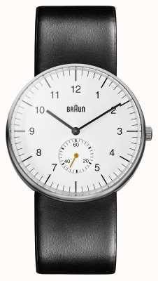 Braun Mens blanco reloj negro BN0024WHBKG
