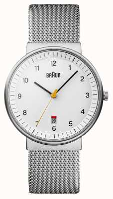 Braun Reloj para hombre blanco de plata BN0032WHSLMHG