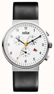 Braun Reloj cronógrafo clásico unisex BN0035WHBKG