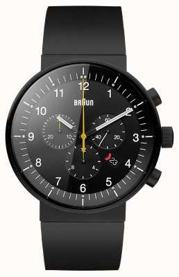 Braun Mens prestigio reloj cronógrafo negro BN0095BKBKBKG