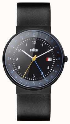 Braun Reloj de hora dual clásico unisex BN0142BKBKG