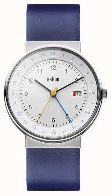 Braun Reloj de hora dual clásico unisex BN0142WHBLG