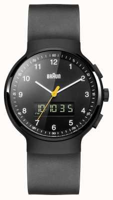 Braun Negro clásico reloj ana-digi de Gent BN0159BKBKG