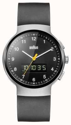 Braun Reloj clásico de plata ana-digi de Gent BN0159SLBKBKG