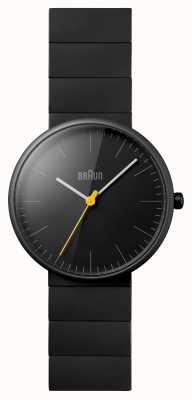 Braun Reloj del vestido de cerámica negro unisex BN0171BKBKG