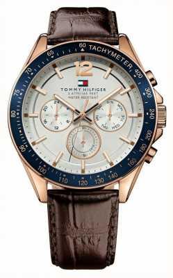 Tommy Hilfiger Gent's luke reloj de tono rosa 1791118