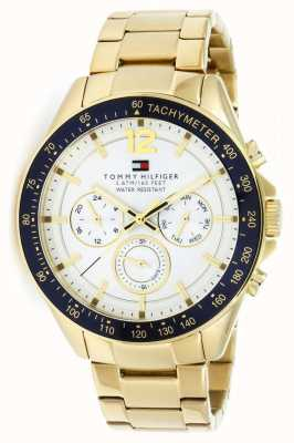 Tommy Hilfiger Reloj luke para hombre | caja de pvd | correa de acero inoxidable dorado | 1791121