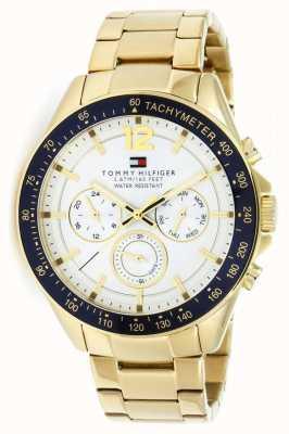 Tommy Hilfiger Reloj para hombre luke gold tone | correa de metal dorado | 1791121