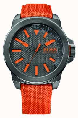 Hugo Boss Orange Reloj para hombre de Nueva York con la correa de naranja 1513010