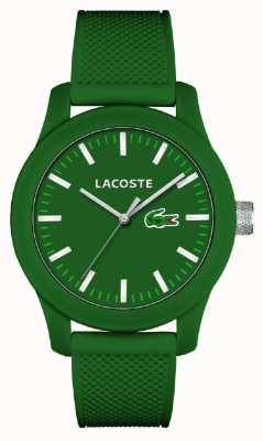 Lacoste Para hombre de línea verde 12.12 correa de silicona verde 2010763