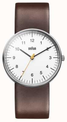 Braun Reloj para hombre blanco marrón BN0021WHBRG