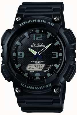 Casio Mens iluminador de potencia de cinco alarma solar negro AQ-S810W-1A2VEF