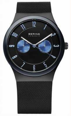 Bering Caballeros correa de malla negro de cerámica 32139-227