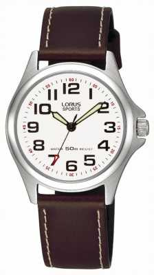 Lorus Reloj de los deportes de la correa de cuero RRS51LX9
