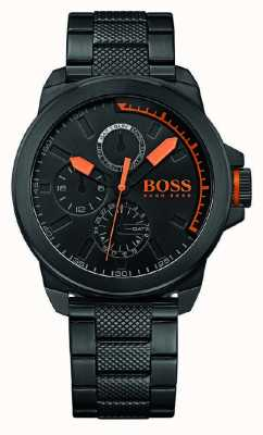 Hugo Boss Orange Caballeros ip negro esfera de color negro 1513157