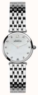 Michel Herbelin Señoras reloj épsilon de acero inoxidable 1045/B59