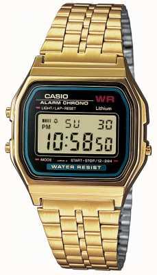 Casio Chapado en oro retro Caballeros digitales A159WGEA-1EF