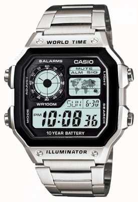 Casio Cronómetro digital multifunción mundial de cuarzo AE-1200WHD-1AVEF
