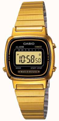 Casio Pulsera de las mujeres digitales del oro retro plateado LA670WEGA-1EF