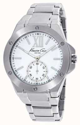 Kenneth Cole Damas de acero inoxidable de línea blanca KC10020844