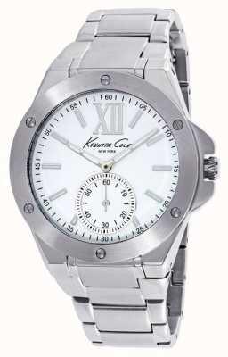 Kenneth Cole Damas de acero inoxidable de línea blanca KC10020844