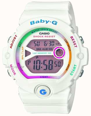 Casio Mujeres Baby-G digital en blanco BG-6903-7CER