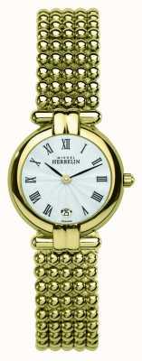 Michel Herbelin Señoras pvd oro plateado esfera de plata 16873/BP08
