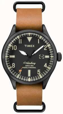 Timex Hombres la correa de cuero marrón claro waterbury TW2P64700