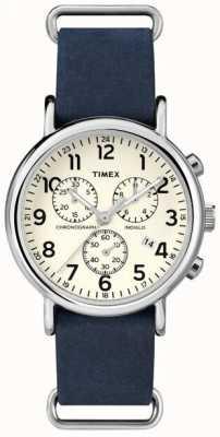 Timex Cronógrafo para hombre semanal de gran tamaño TW2P62100