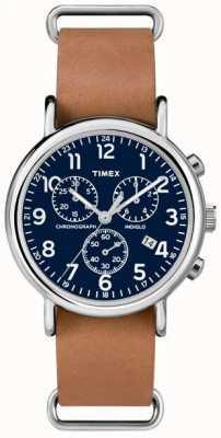 Timex Caballeros de fin de semana cronógrafo de gran tamaño TW2P62300