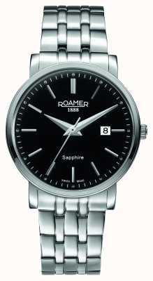 Roamer Línea clásica | pulsera de acero inoxidable | esfera negra 709856-41-55-70