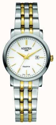 Roamer Línea clásica | acero inoxidable de dos tonos | esfera blanca 709844-47-25-70