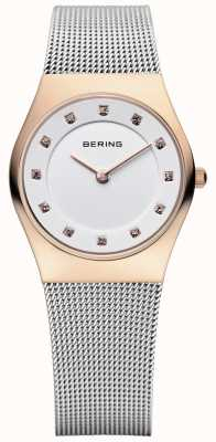 Bering Ladies inoxidable de malla de acero pvd oro rosa 11927-064