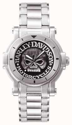 Harley Davidson Reloj de pulsera de cráneo willie g para hombre 76A11