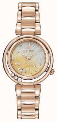 Citizen Salida del sol de oro rosa de eco-drive EM0323-51N